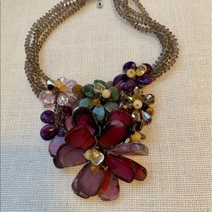 Beautiful crystal flower necklace.